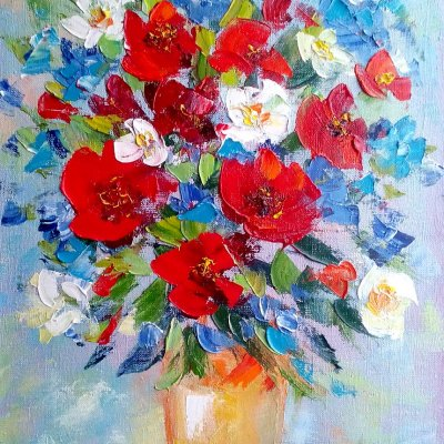 Bouquet with poppies