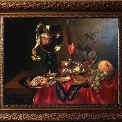 Dutch still life with crab.