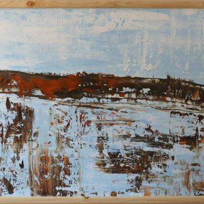 Oil Painting Abstract Water Landscape 75Х85