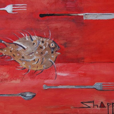 Fish, spoon, knife. Pavel Shappo.