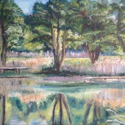 Trees by the lake