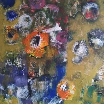 Abstract spring bouquet