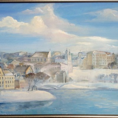 Minsk.Panorama of the Upper Town.February