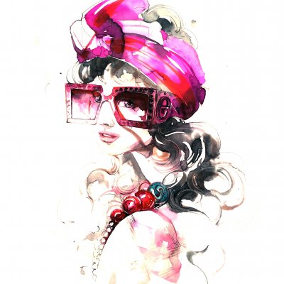Girl with Gucci glasses