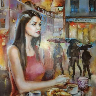 Once in a cafe on Montmartre