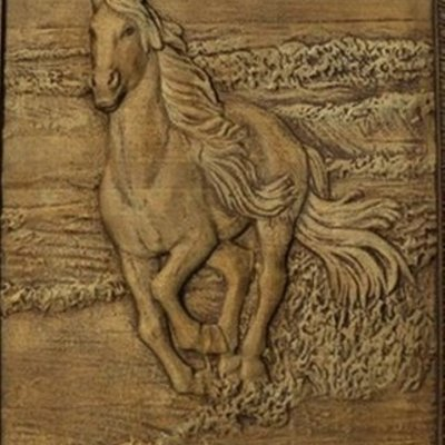"""Panel """"Horse in the surf"""""""