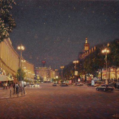 Night Khreshchatyk. Kyiv.