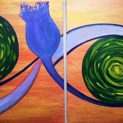 Diptych. Eyes of the universe.