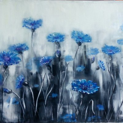 Cornflowers. There's only a moment...