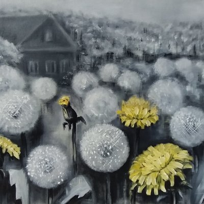 There's only a moment. Dandelions.