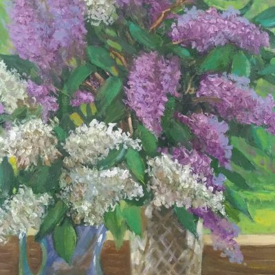 Two bouquets of lilac