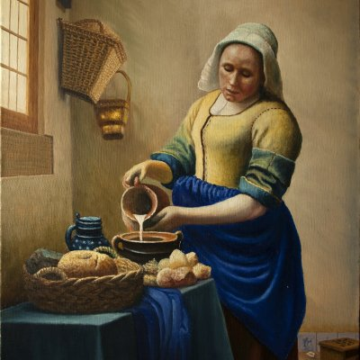 """""""The Thrush"""" by Jan Vermeer. A copy of the painting."""