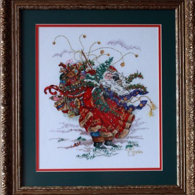 """Painting """"In the Wind"""", handmade, embroidery."""