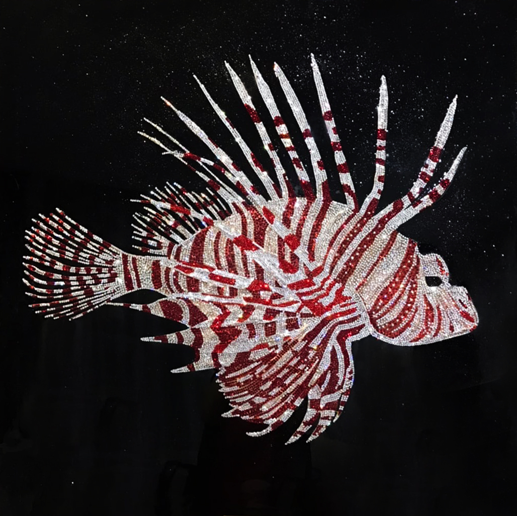 Scorpen Winged Fish Oil Painting