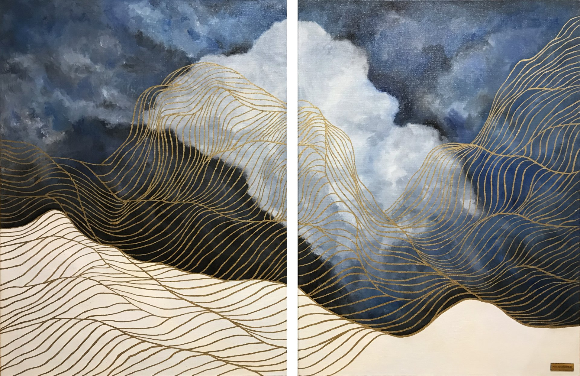 Diptych, Clouds