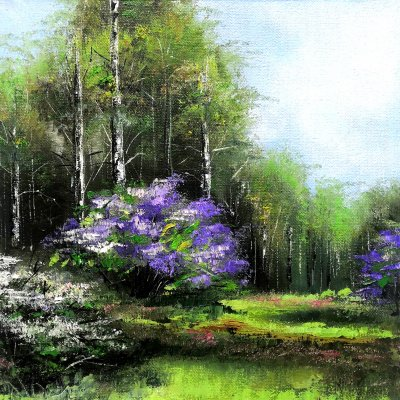 Lilac in the forest