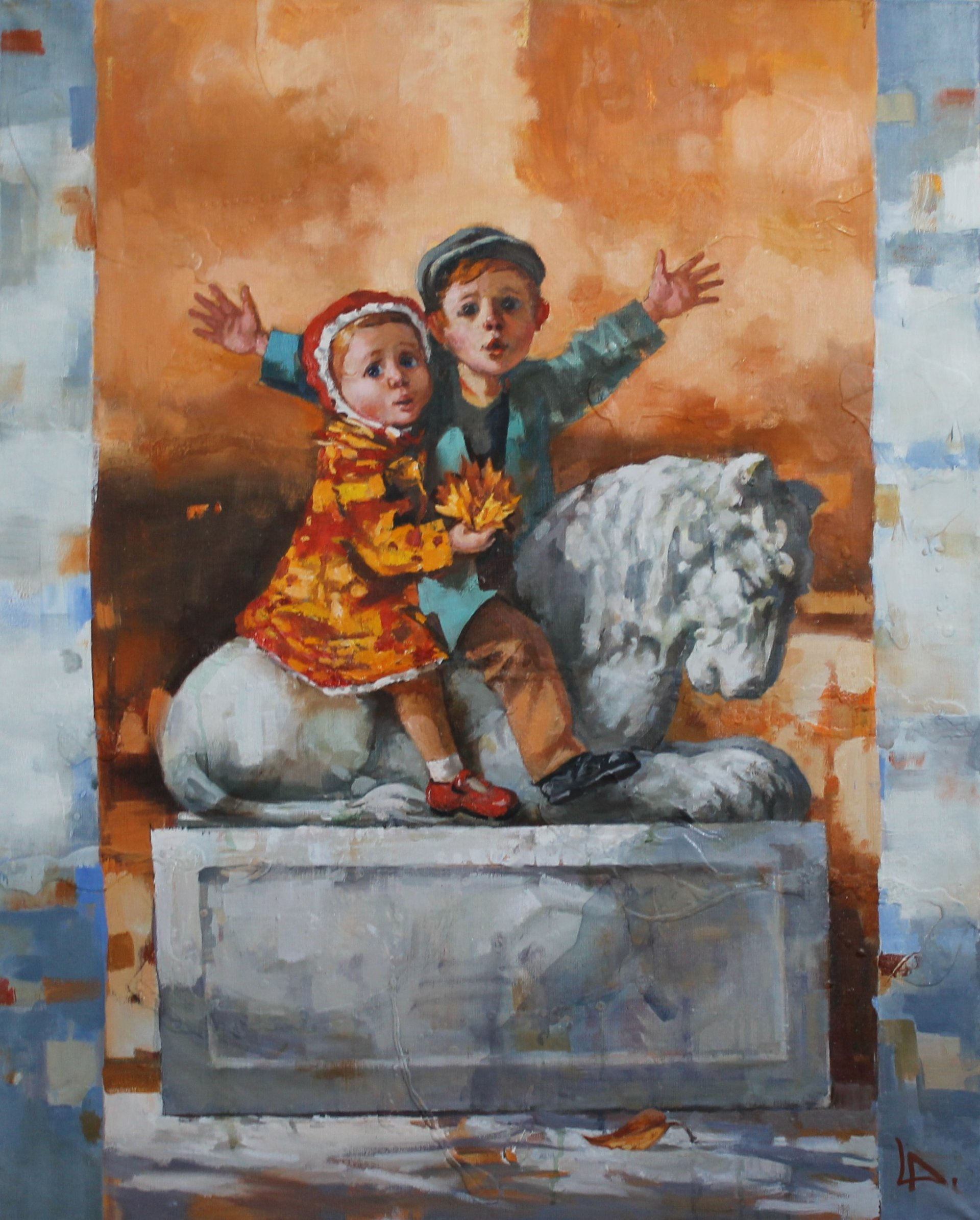 Children and the Lion