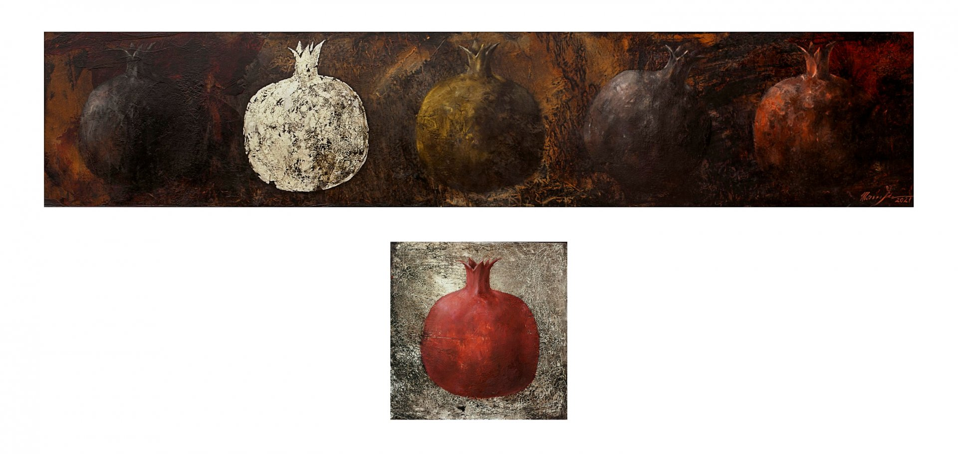 """""""The other one. Grenades"""" diptych"""
