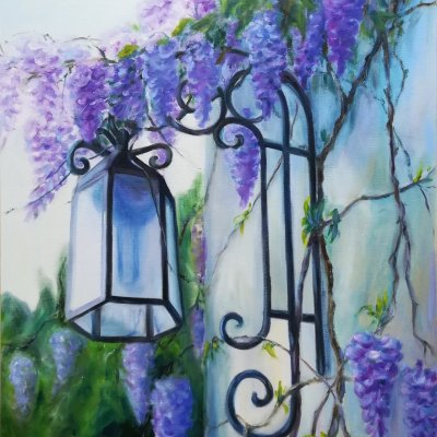 There's nowhere to rush today. Wisteria.