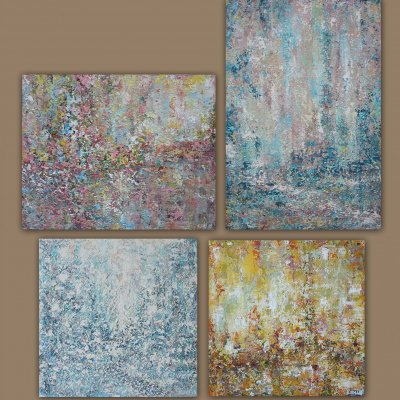 """Quadriptych """"Cyclicity of Life"""""""