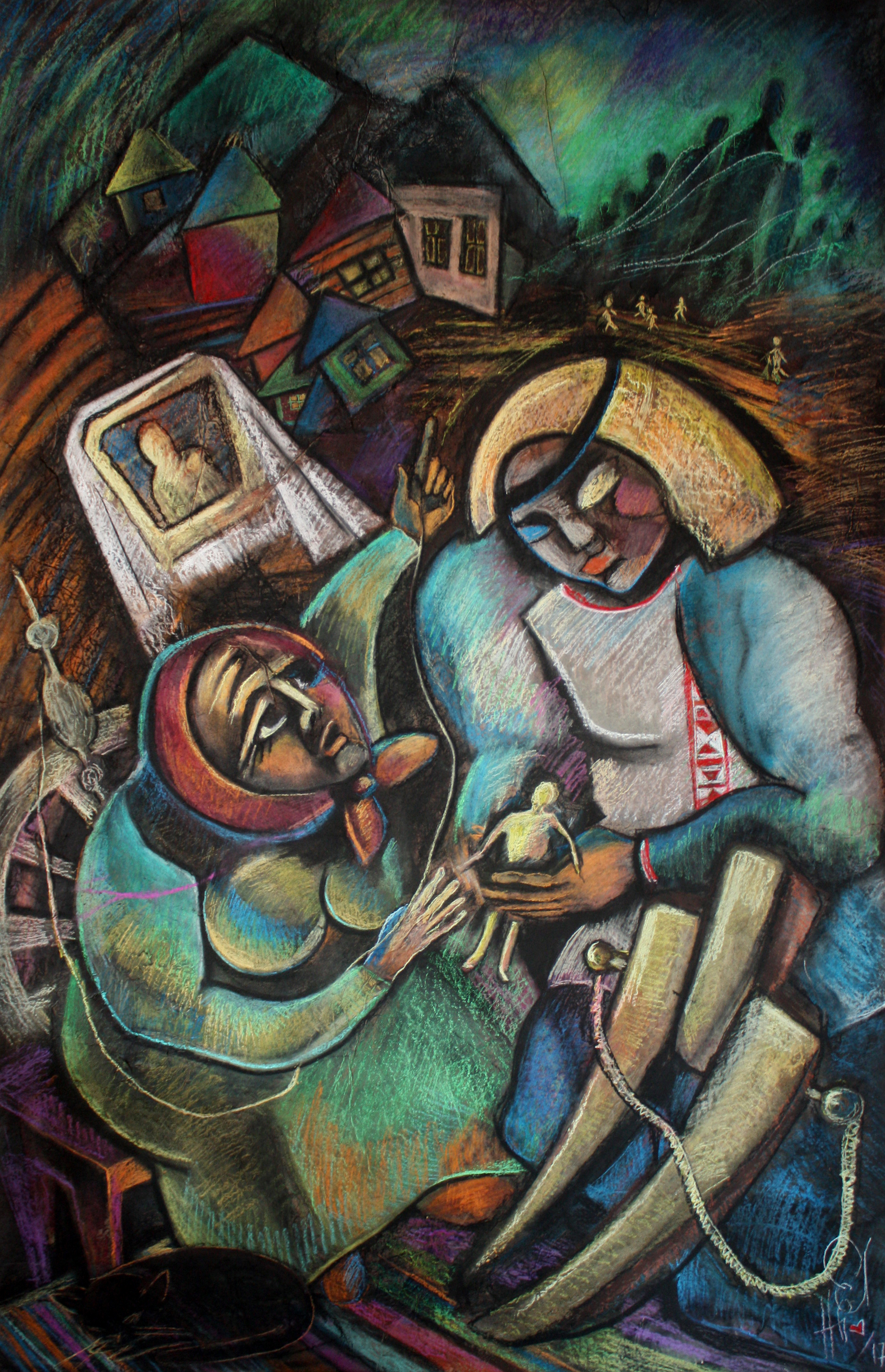 """The series """"Cossack Kraina Belarus"""" From the diptych """"Vilikans of Vitsebshchina"""" """"The story of the growth of former and future people"""" Recorded by N.Y. Nikiforovsky"""