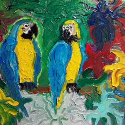 Parrots in the Jungle