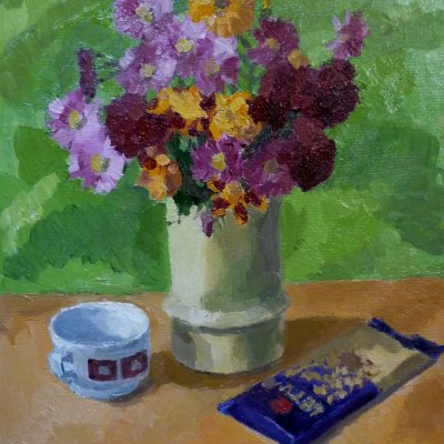 Still life with chocolate