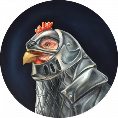 Yes, chicken. Yes, in armour. And what?