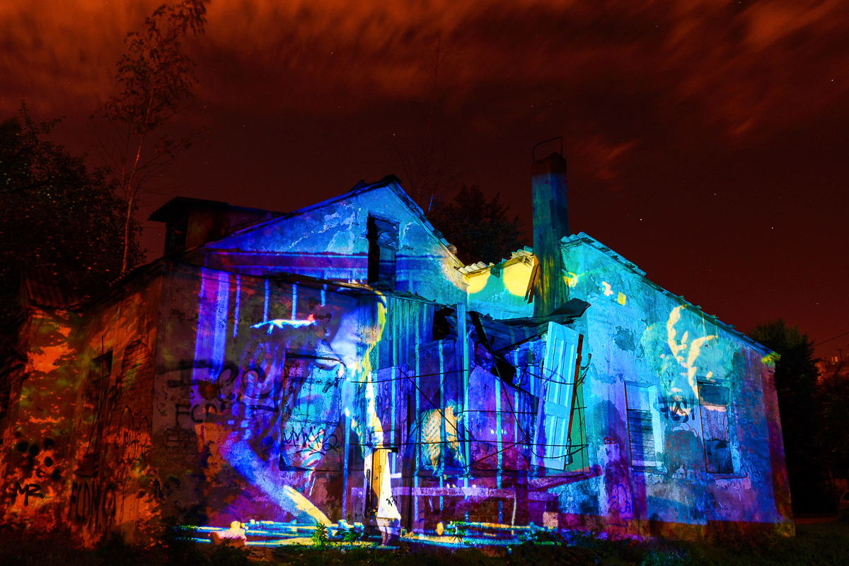 """""""Color of Night 1"""" projection"""