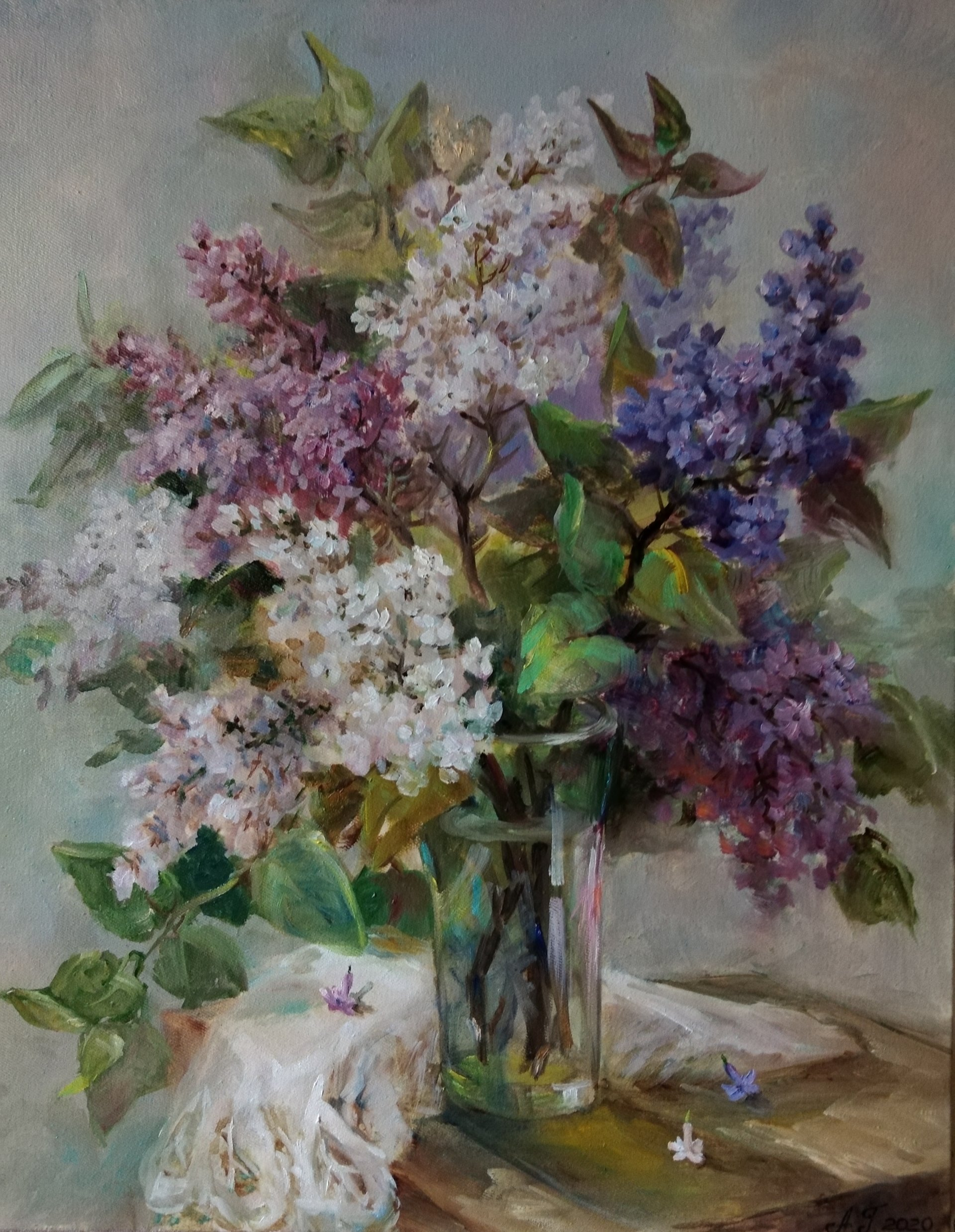 A bouquet of lilac.