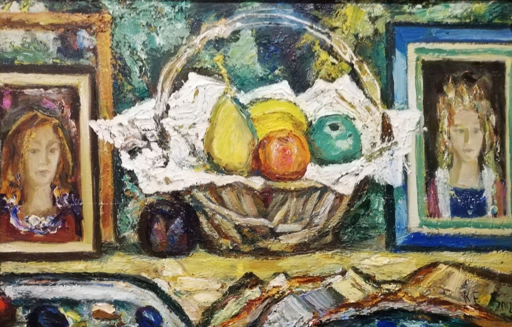 Still Life with Portraits