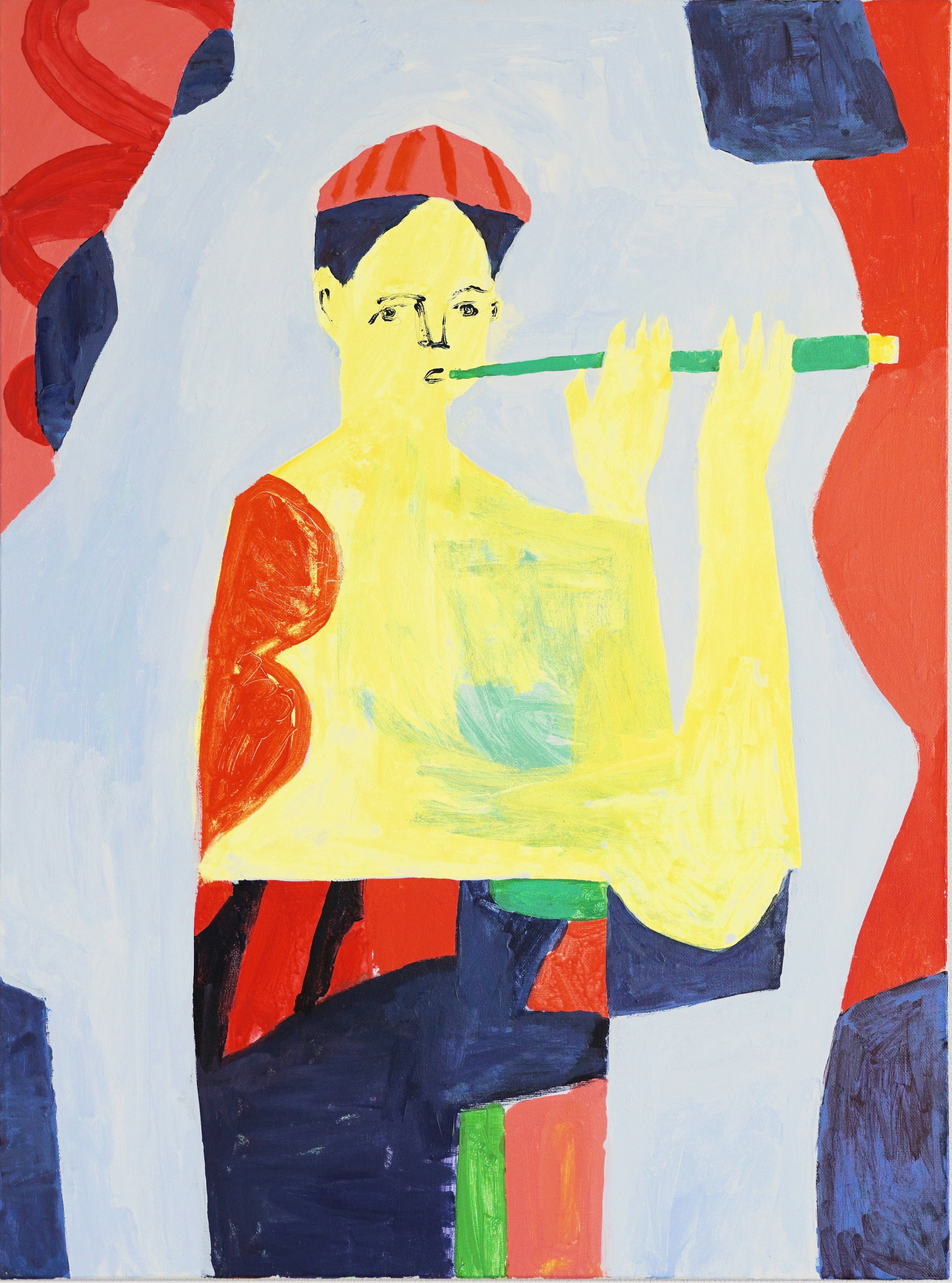 Boy with a flute