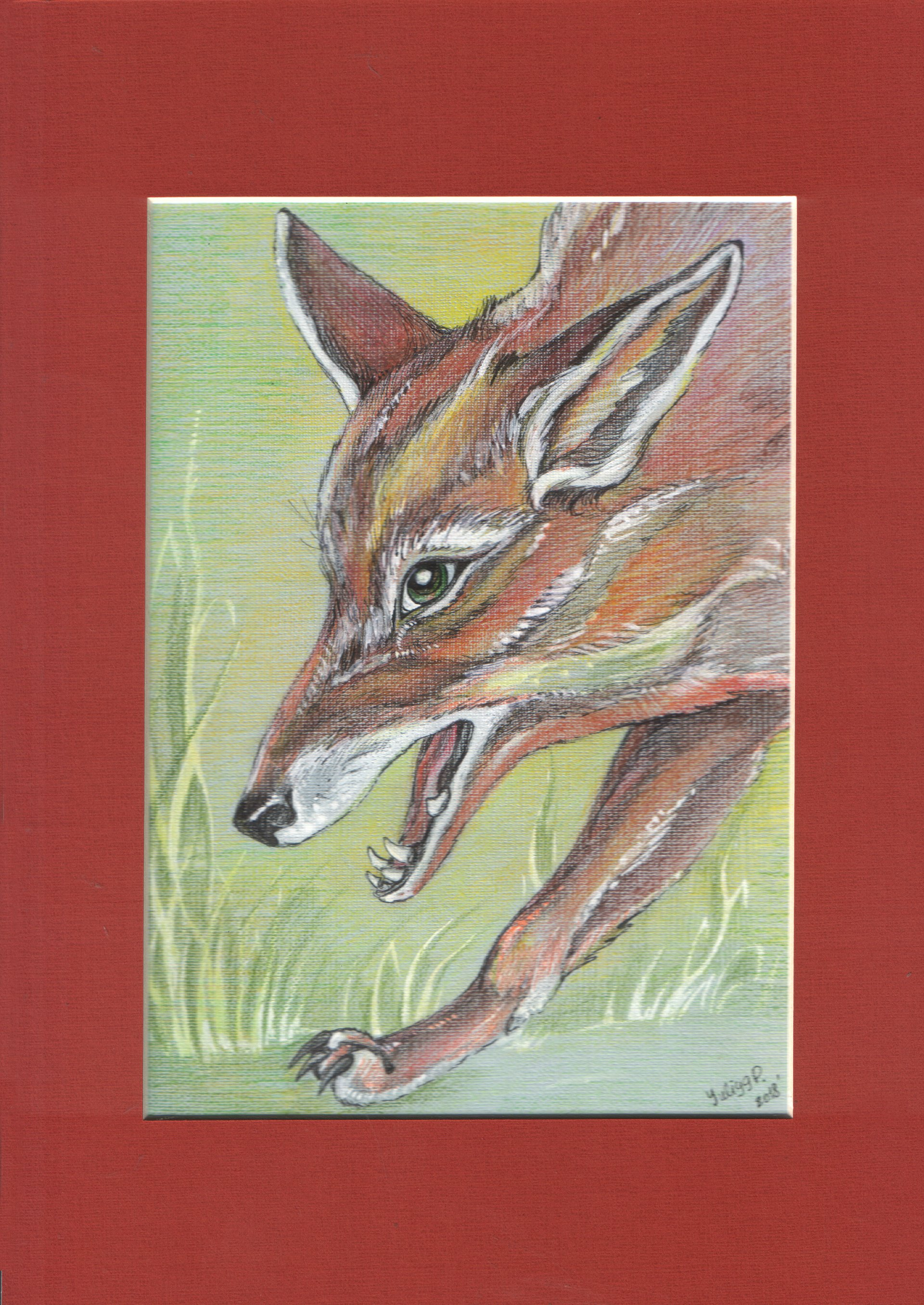 The fox is on the hunt. Portrait