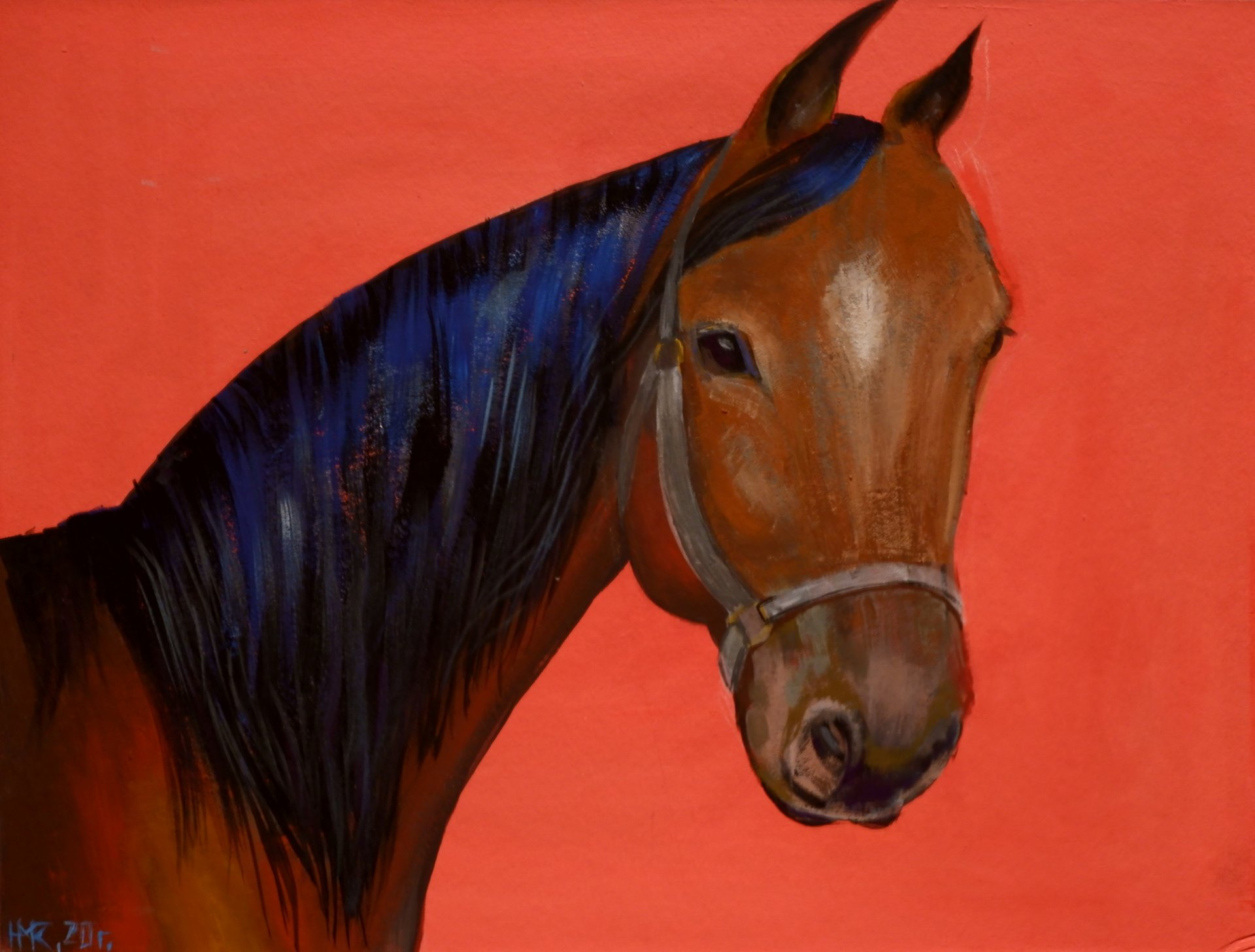 Horse on Red