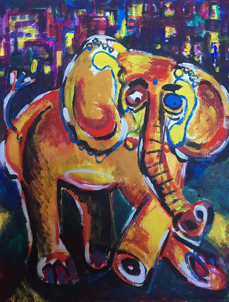 Elephant Goes to Party