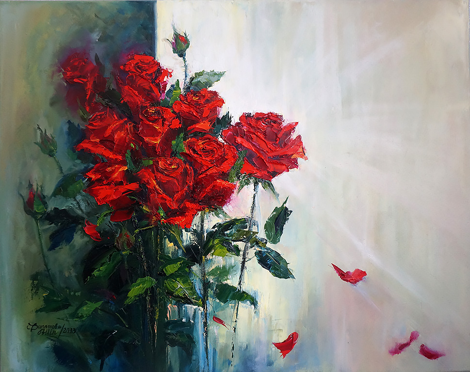 Red Roses Angle