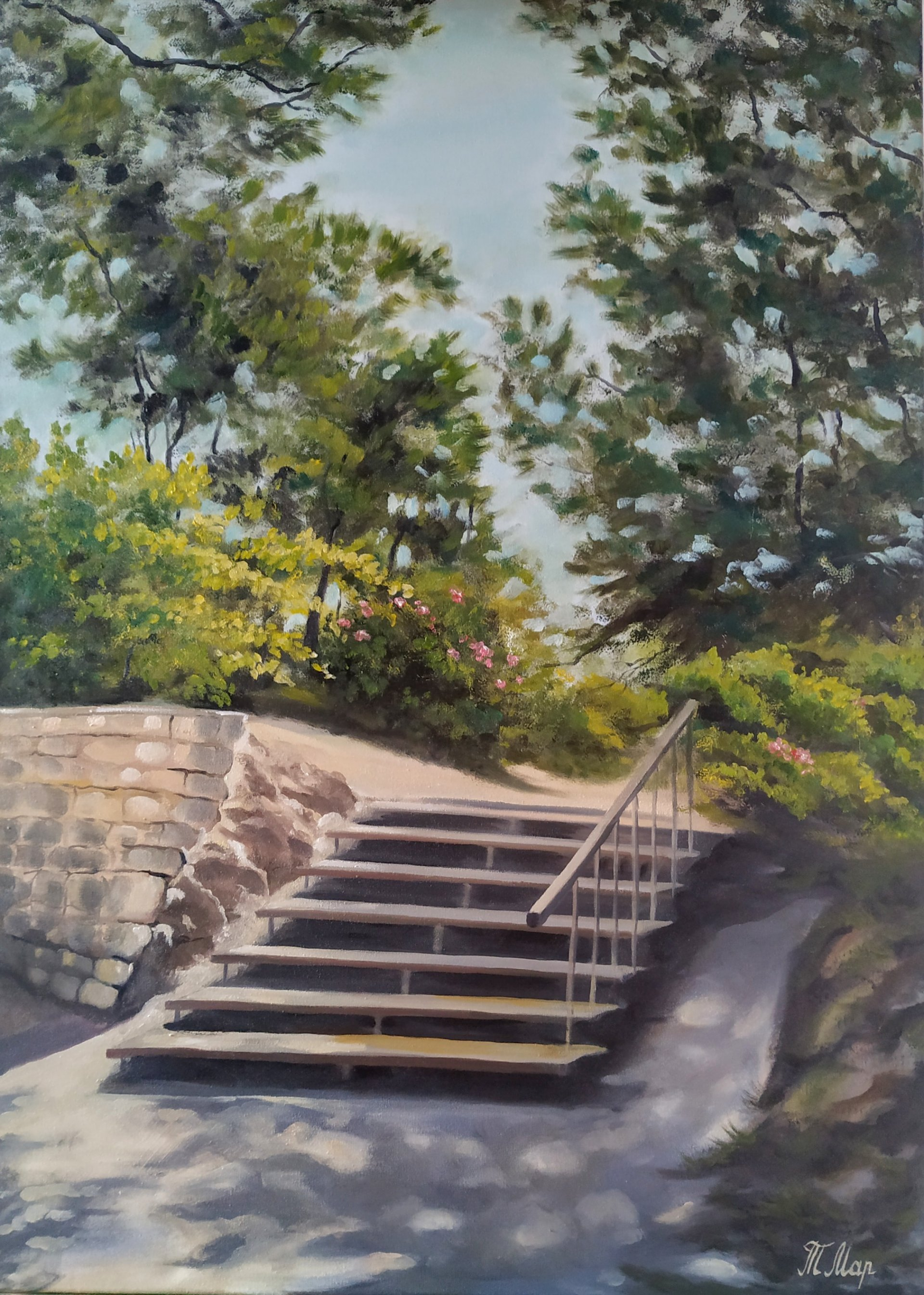 Stairs from Knossos ruins