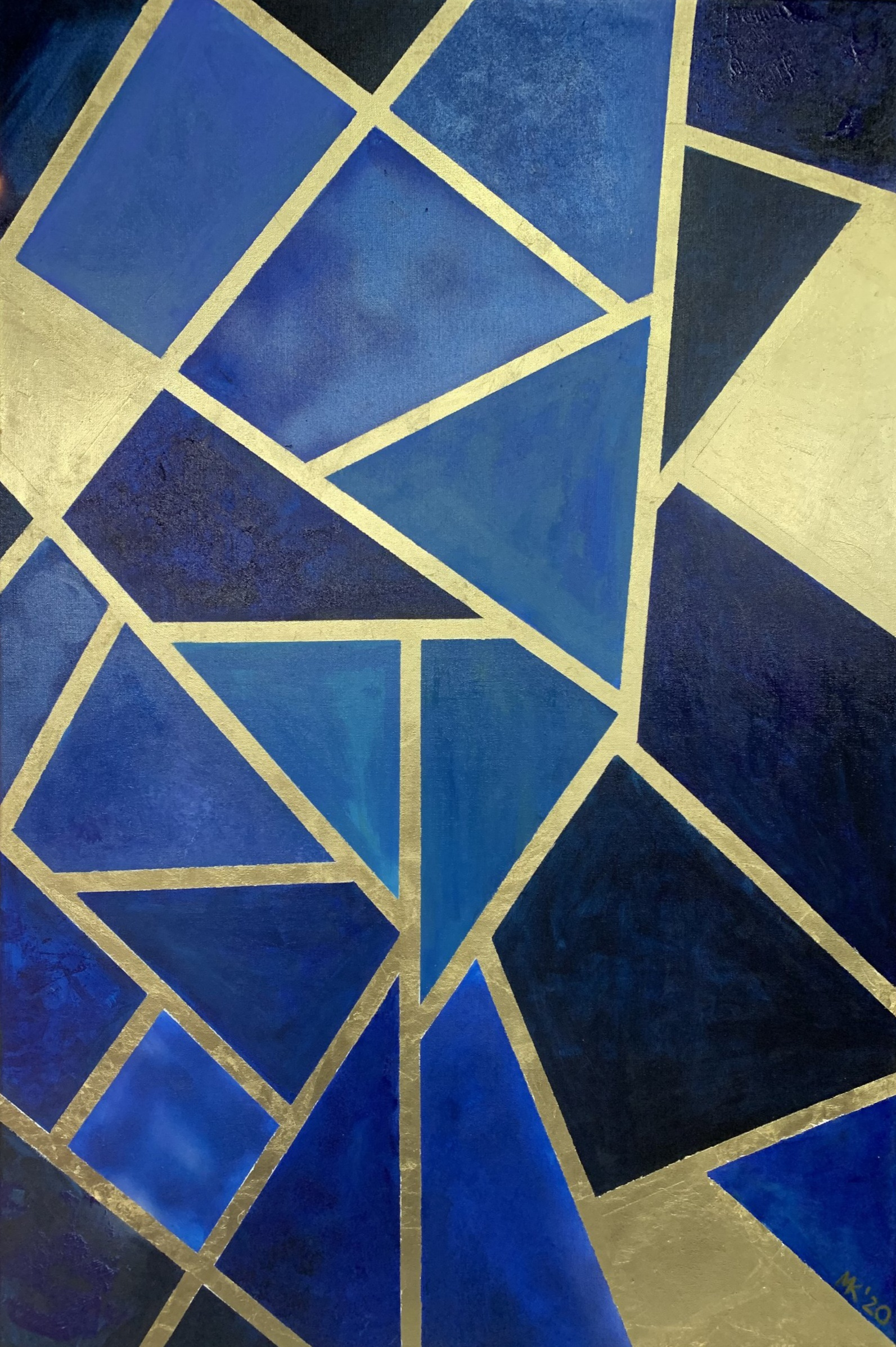 Blue-gold abstraction
