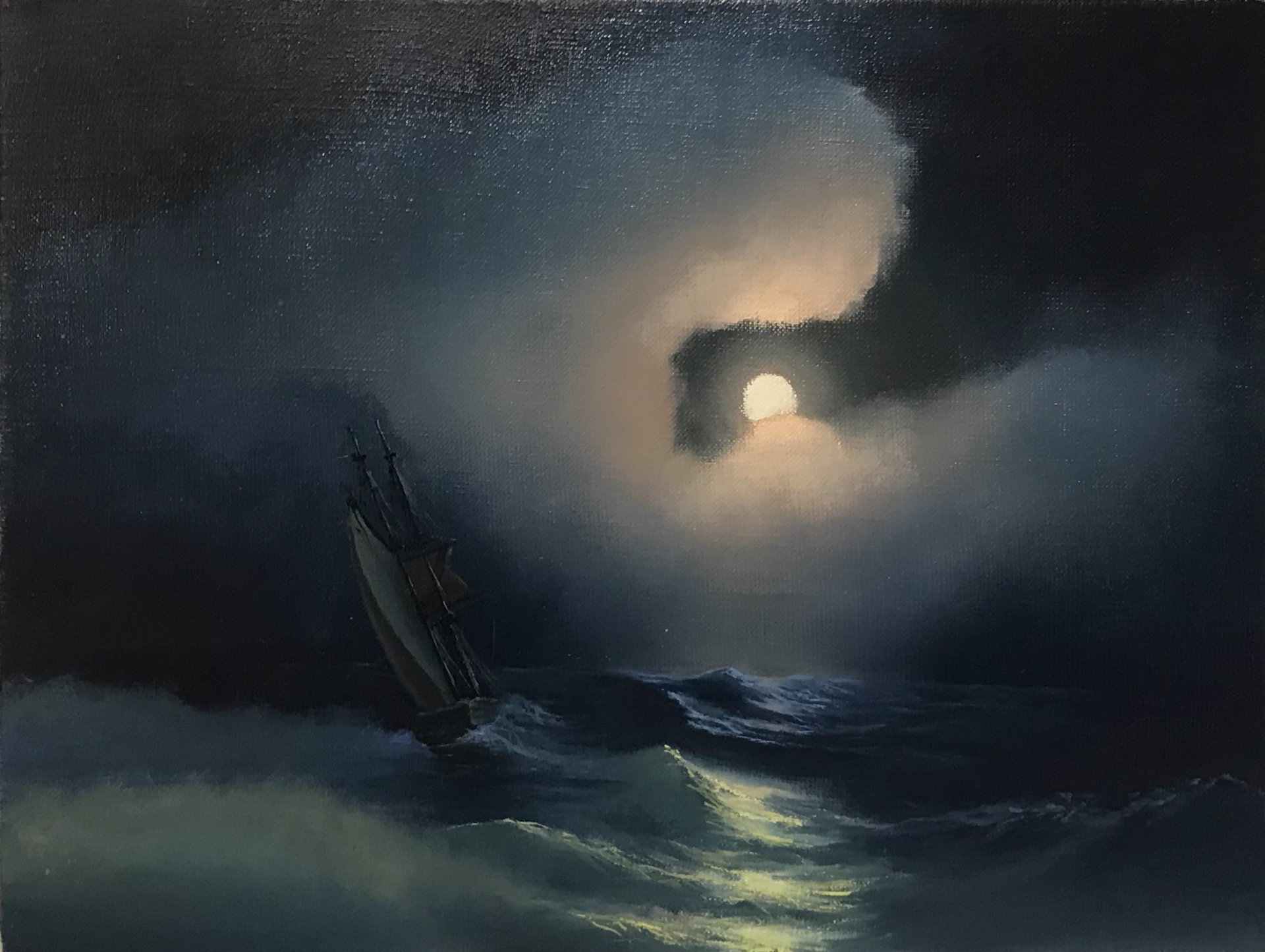 Vessel amid the storm