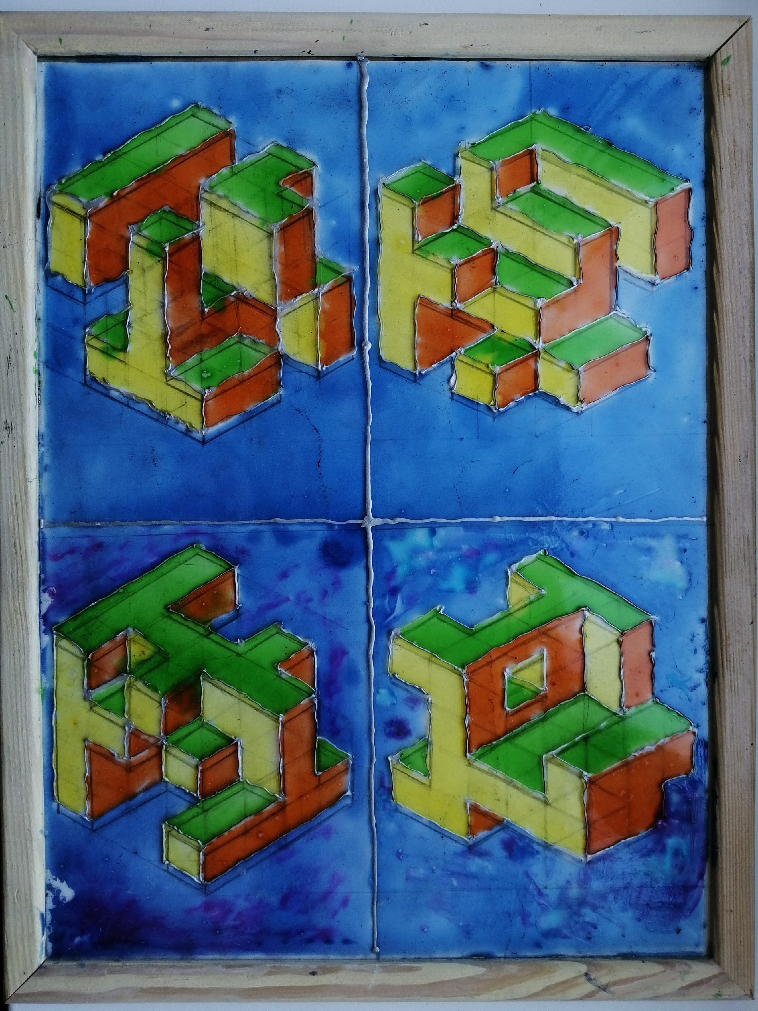 Cubes, carved in cube
