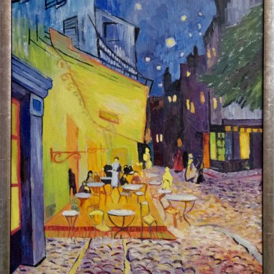 """Copy of Vincent van Gogh's painting """"Night Terrace Cafe"""""""