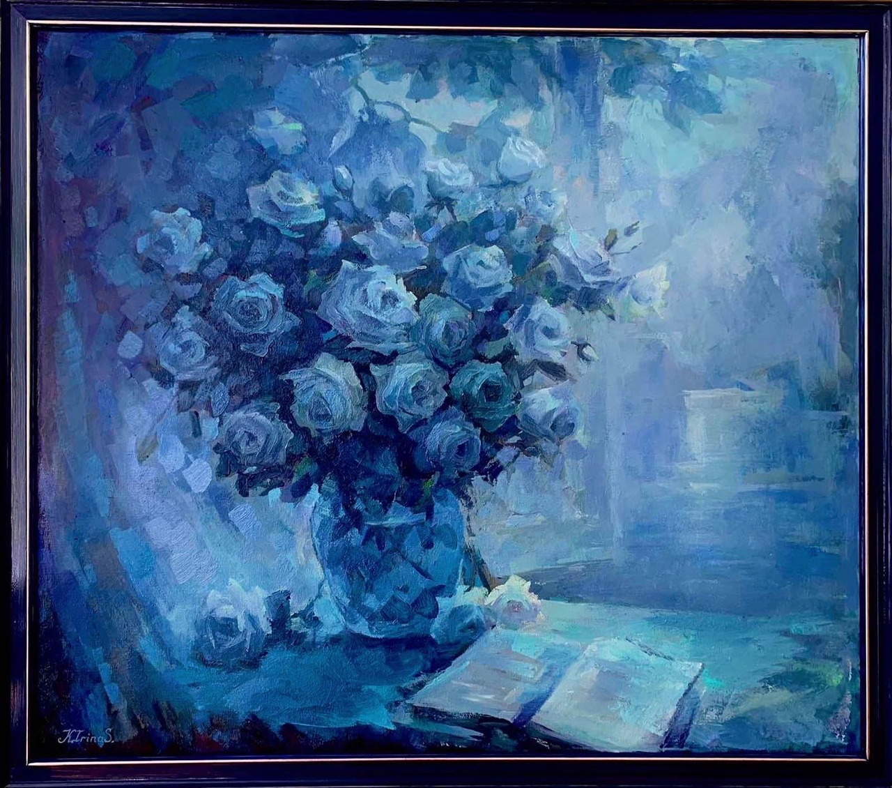 Still Life Flowers on the Window (Painting)