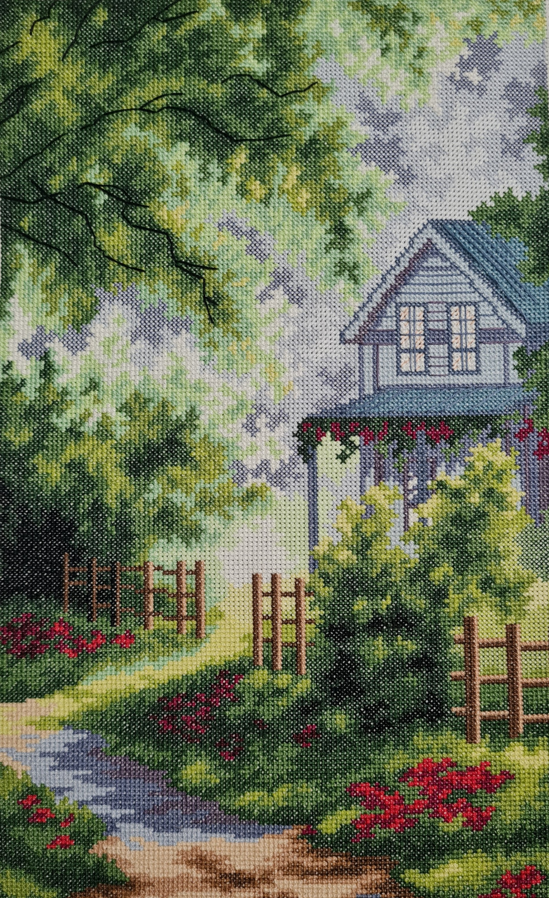 """Cross-stitch """"House in the forest"""""""