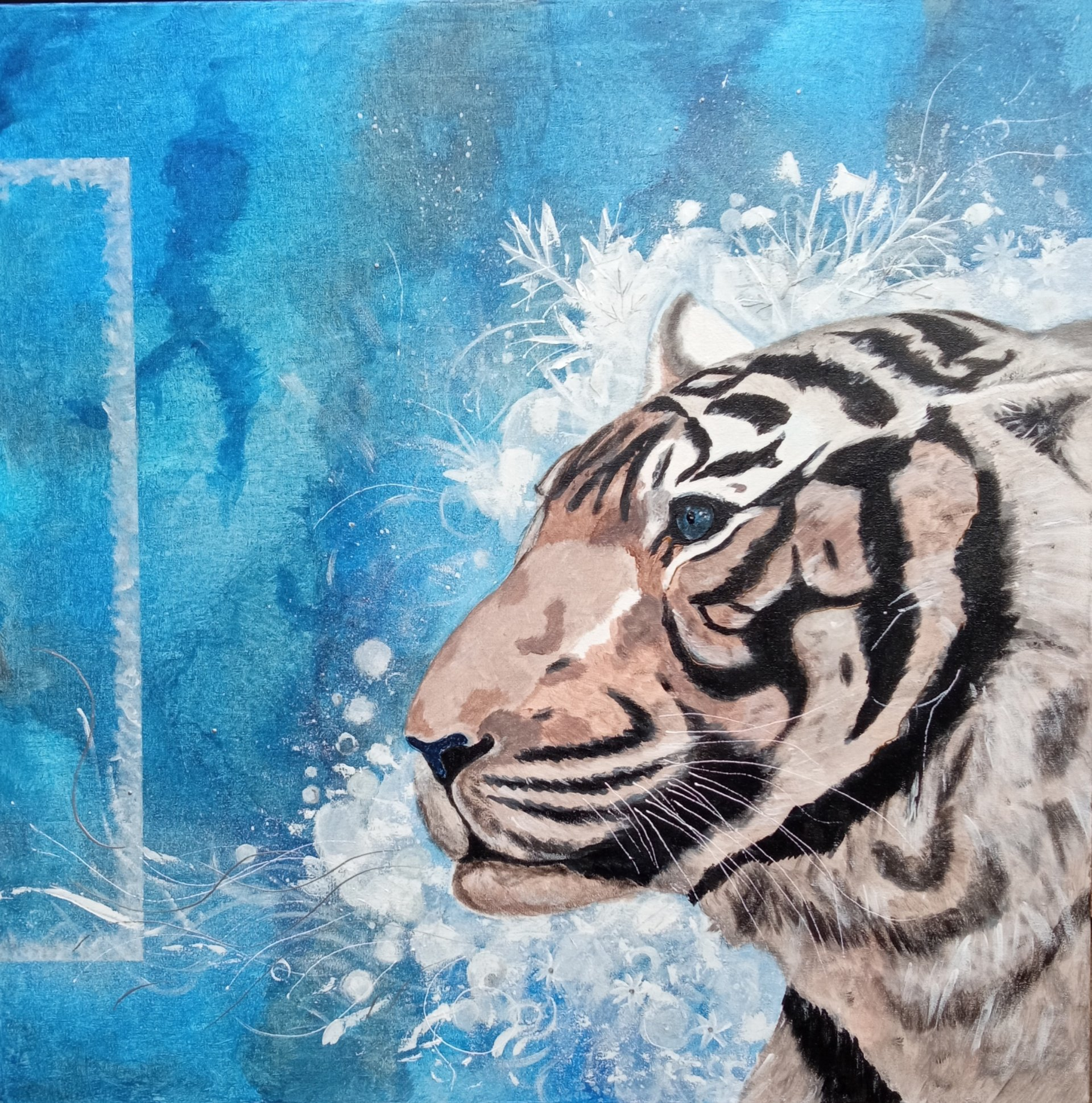Tiger on the Frost