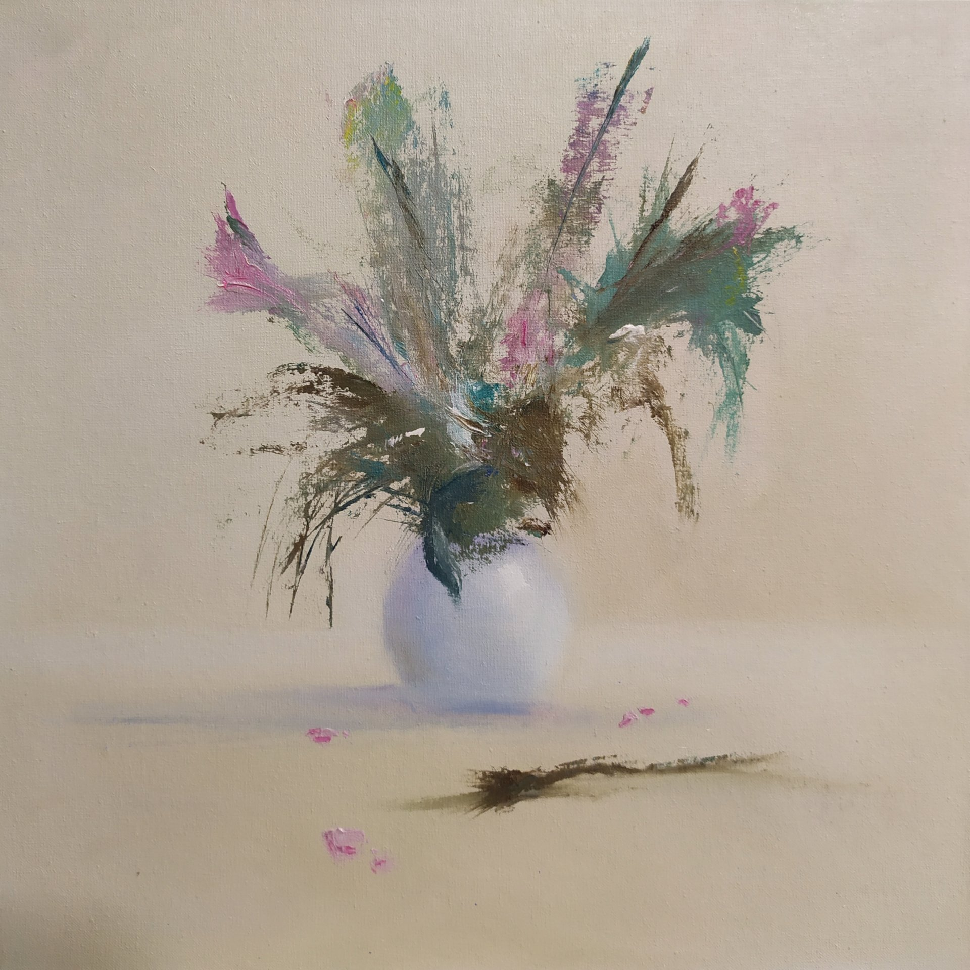 Abstract bouquet vase