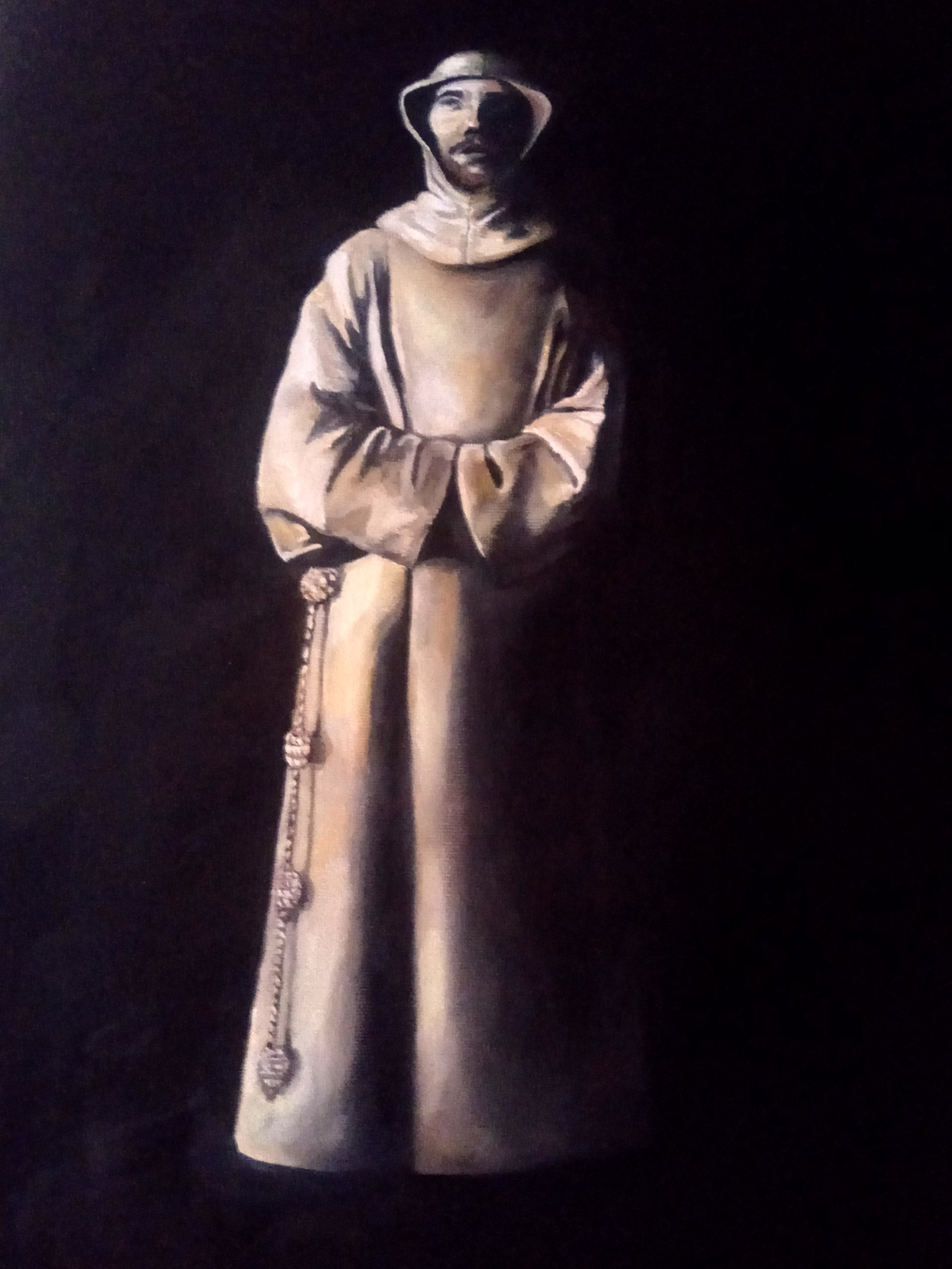 """A copy of Surbaran's painting """"St. Francis of Assisi"""""""