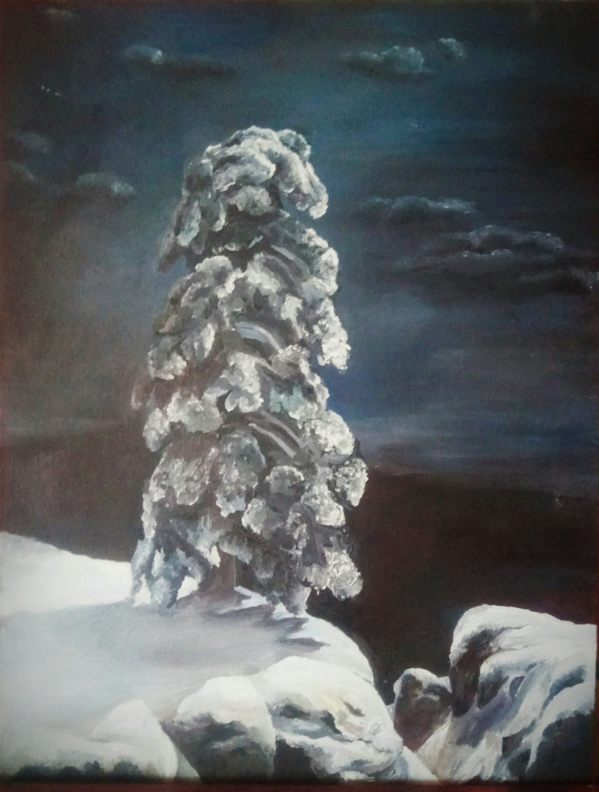 """A copy of Ivan Shishkin's painting """"In the North Wild"""""""