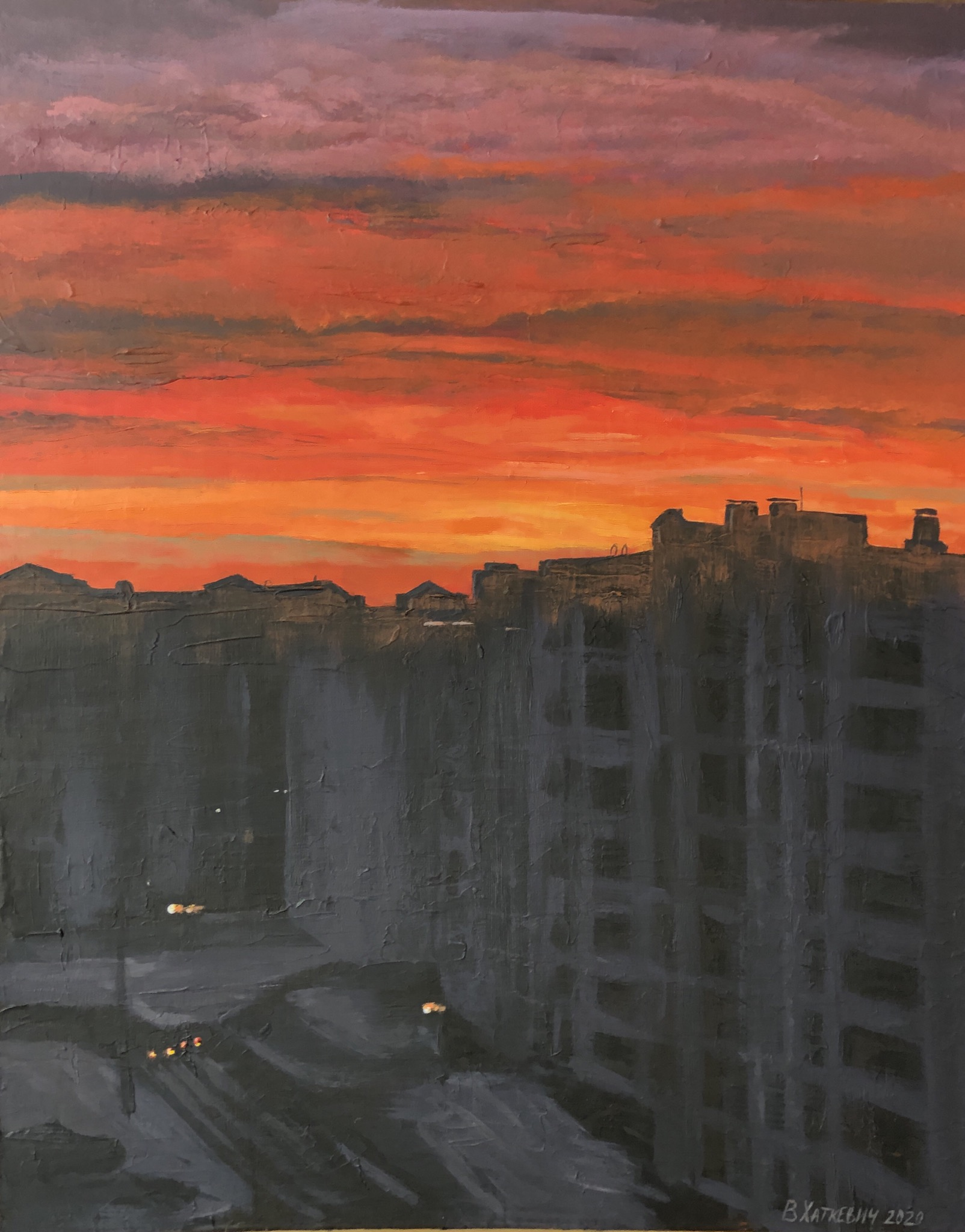 Dawn over the city
