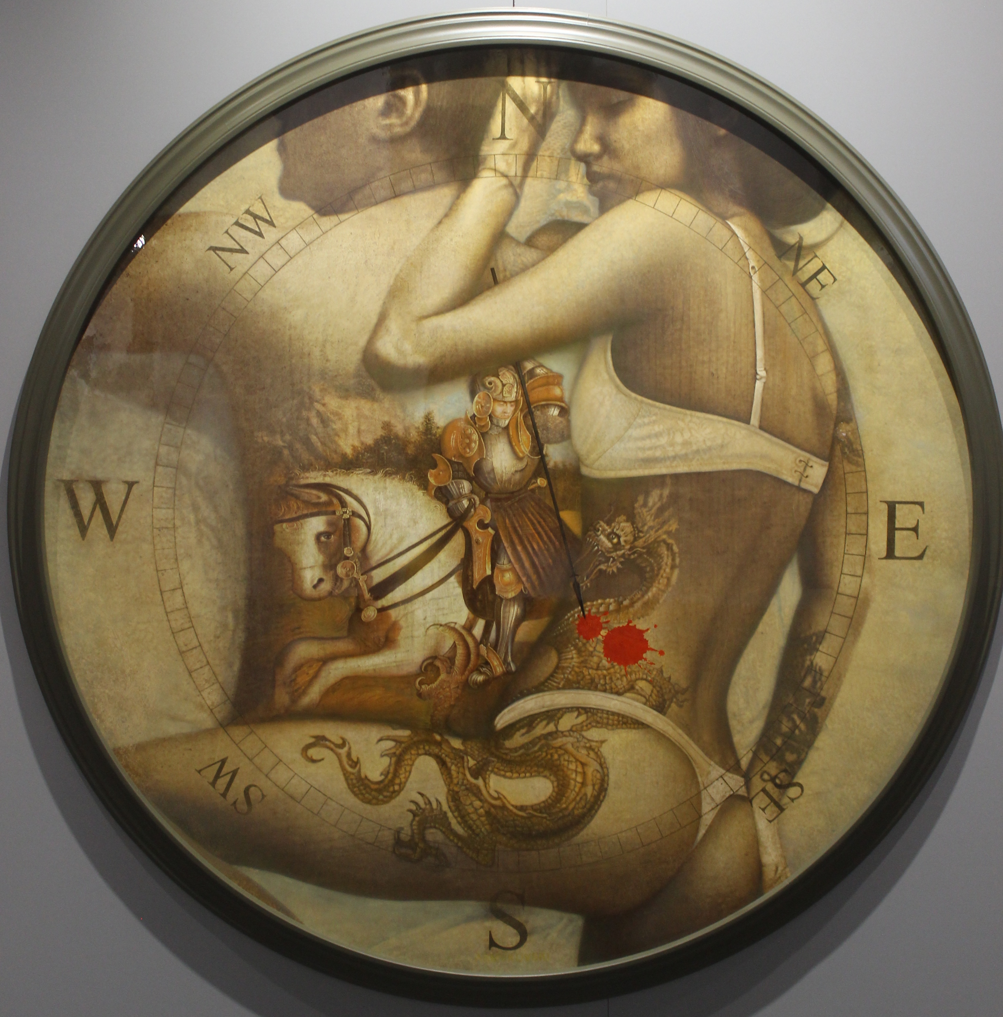 Intimate details or St. George killing a dragon. From the Rose of Winds or East-West Project