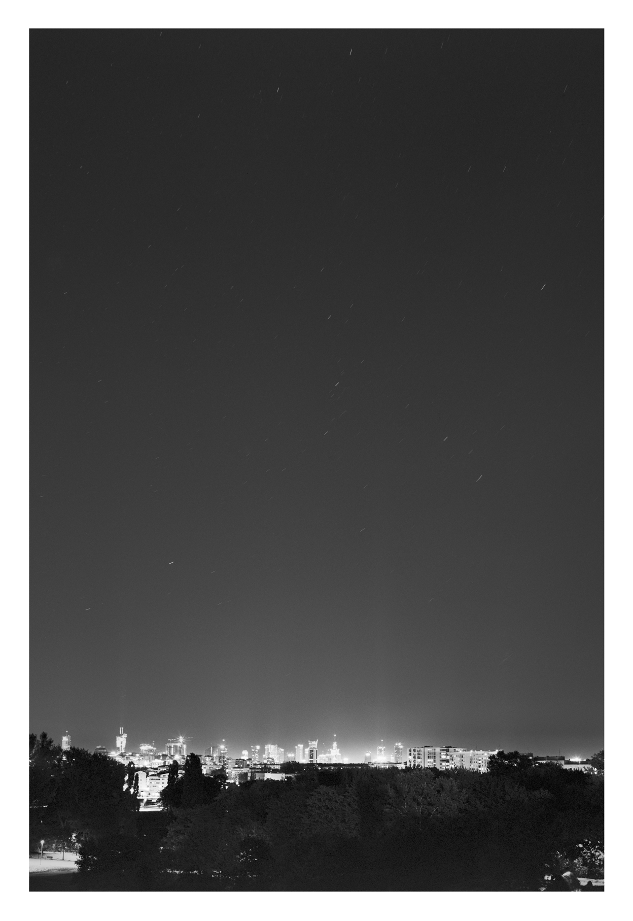 Night over Warsaw